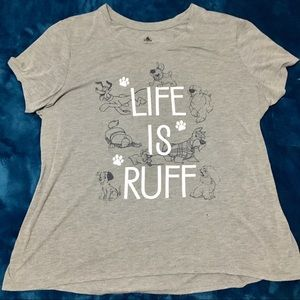 "Disney Parks Dog ""Life Is Ruff"" Women's 2X"